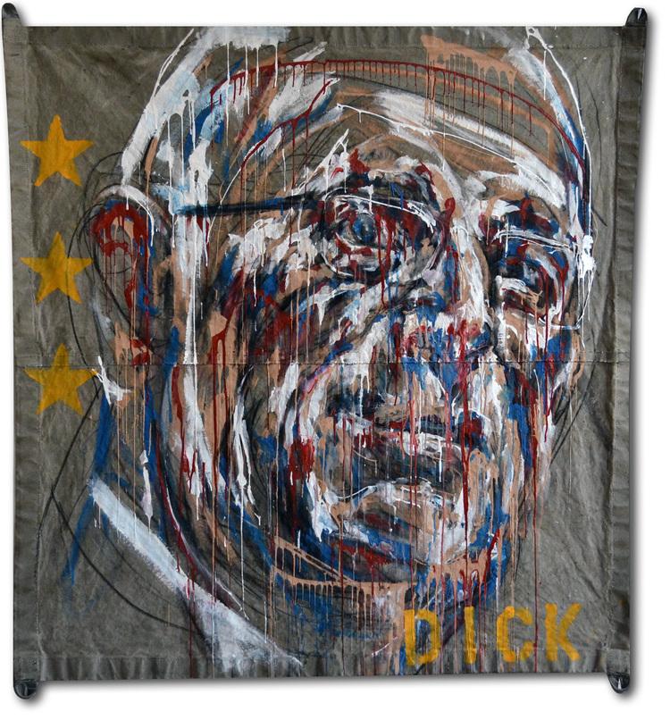 Tracy Boyd, Dick, Acrylic on tarp