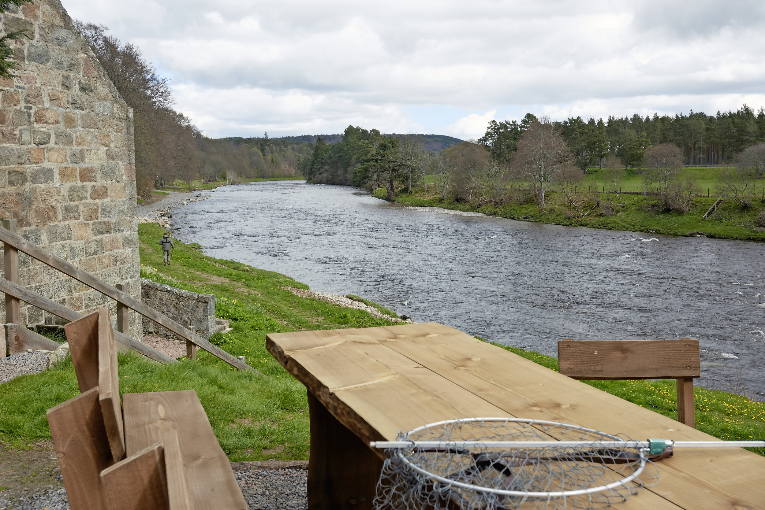 The Mill Pool at Dess on the River Dee, which remains a category 1 river.