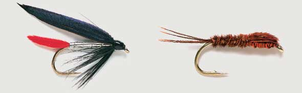 Silver Diawl Bach size 14 Set of 3 Red Head Fly Fishing Nymph Wet Buzzers