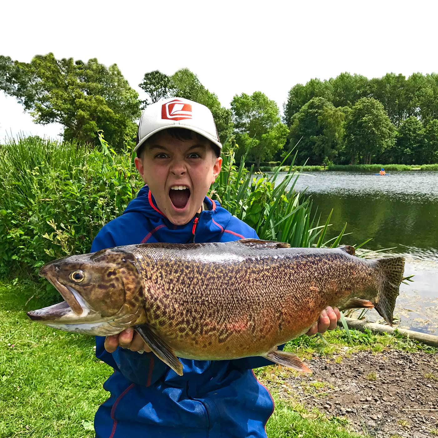 Alexander Jaffrey (aged 12) who caught this 13lb 2oz tiger at Dever Springs.