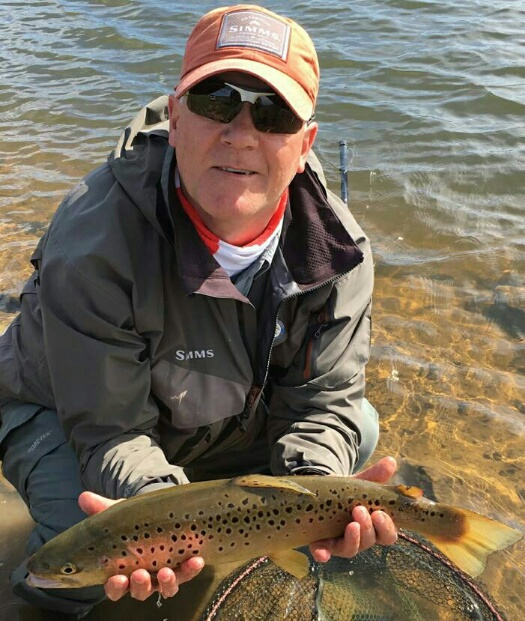 Rob Frame from West Denton with a Chatton brown trout.