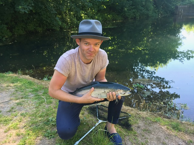 Tom Sandall caught the biggest blue of the week at 7lb 4oz on a small Black Buzzer.