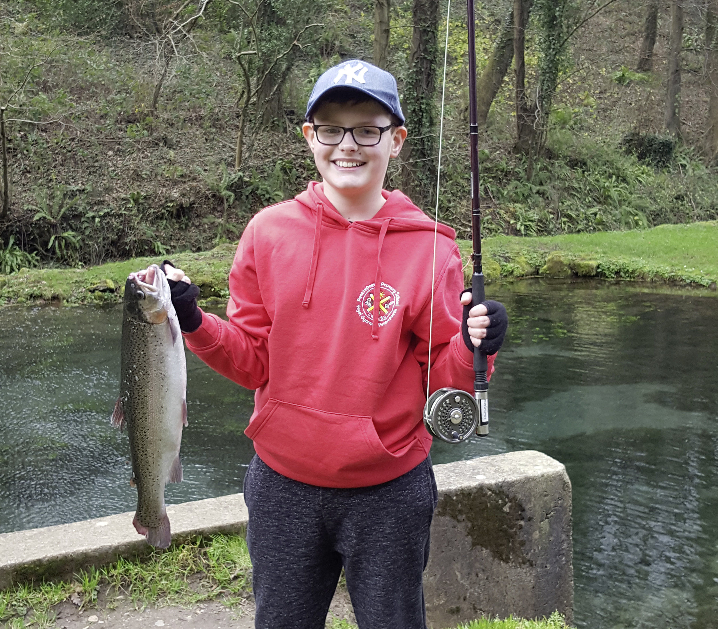 Zach Williams had a successful day at Bigwell fishery.