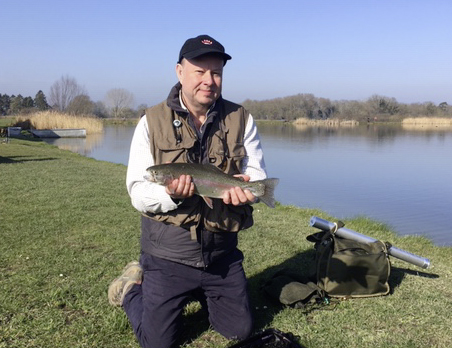 Mark Jones with one of his two Blackdyke rainbows.