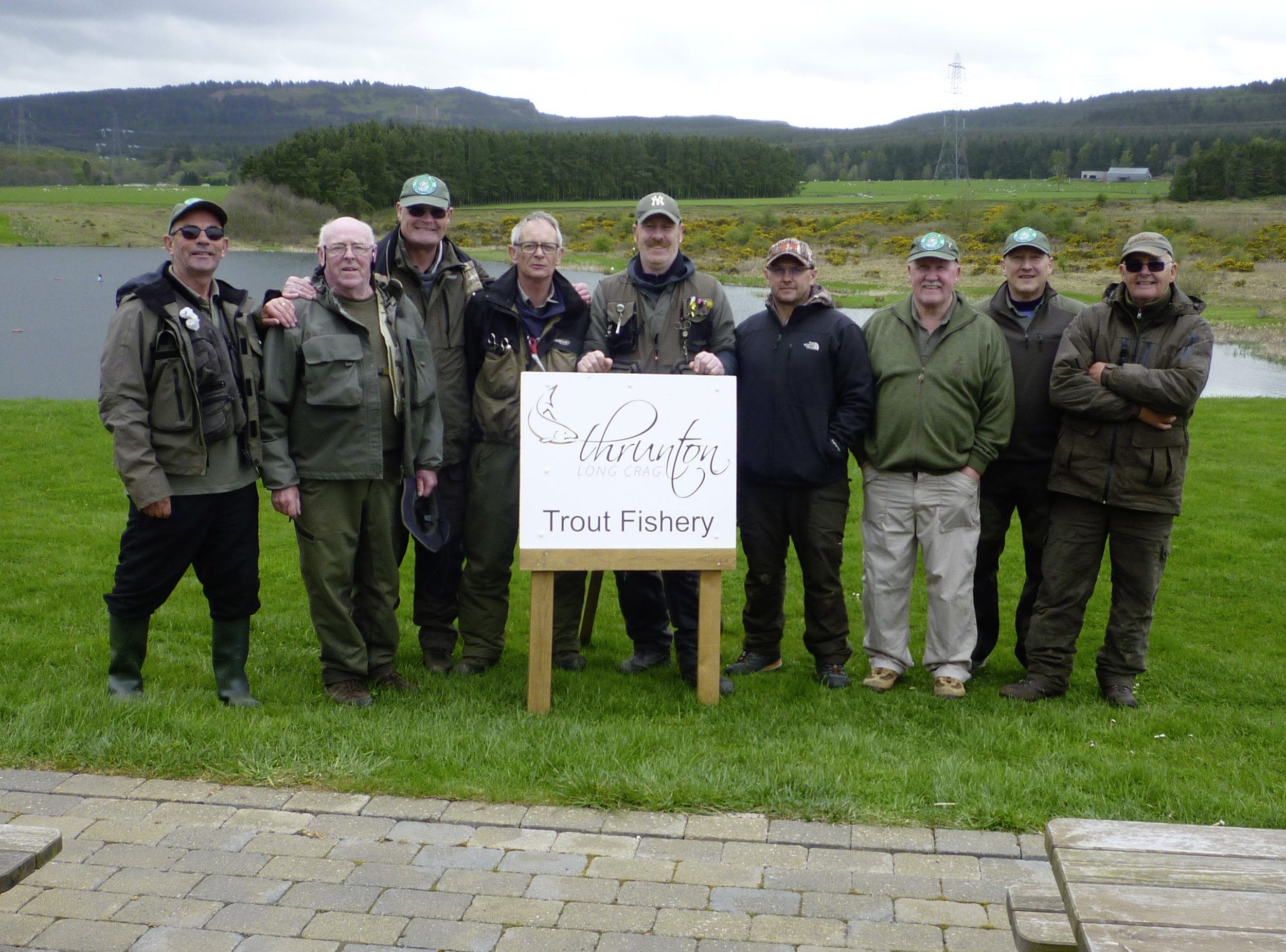 The Ladhope Angling Club who visited Thrunton fishery this week and all enjoyed their fishing session.