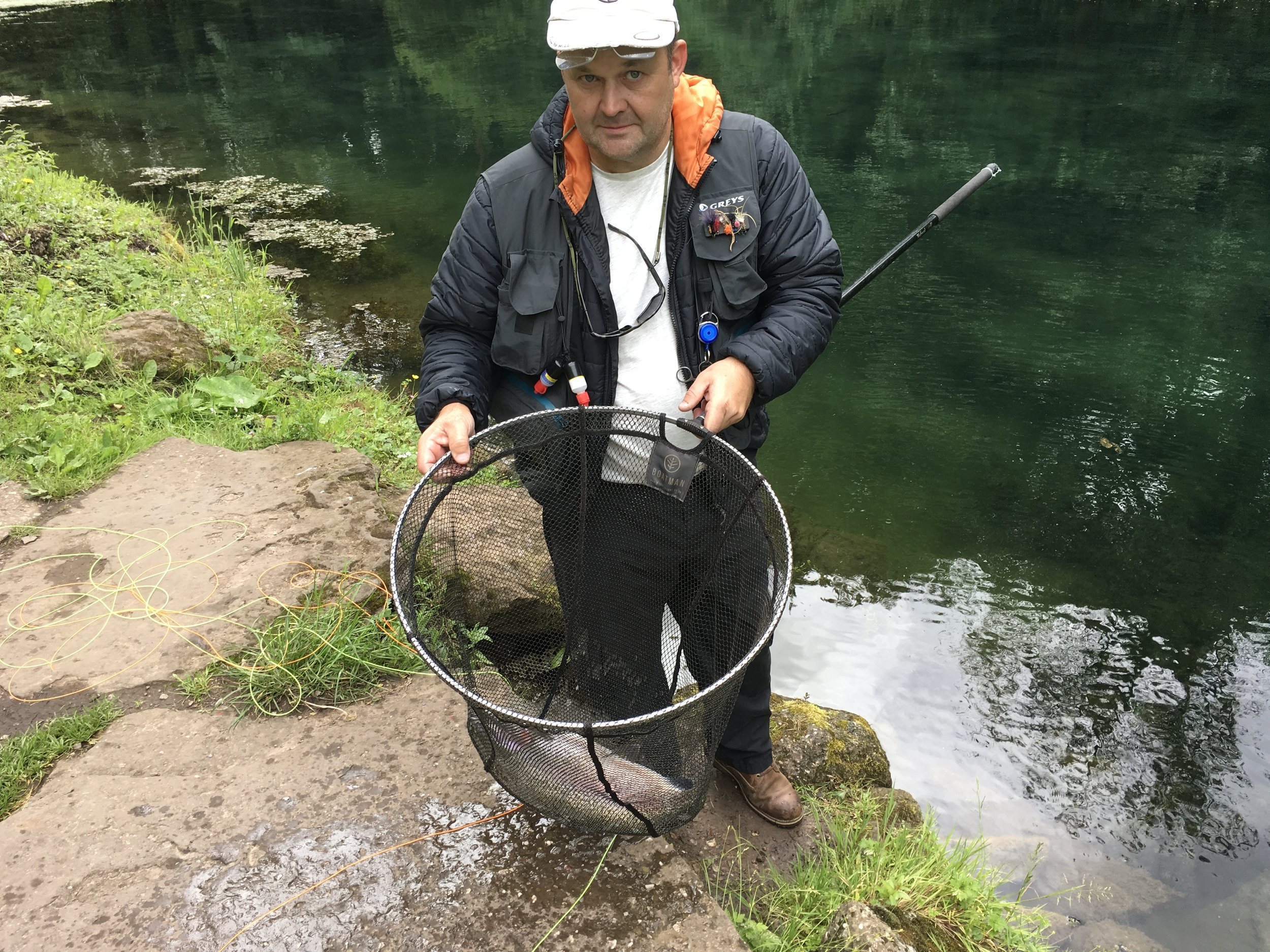 John Burton caught a tagged fish at Bigwell fishery.