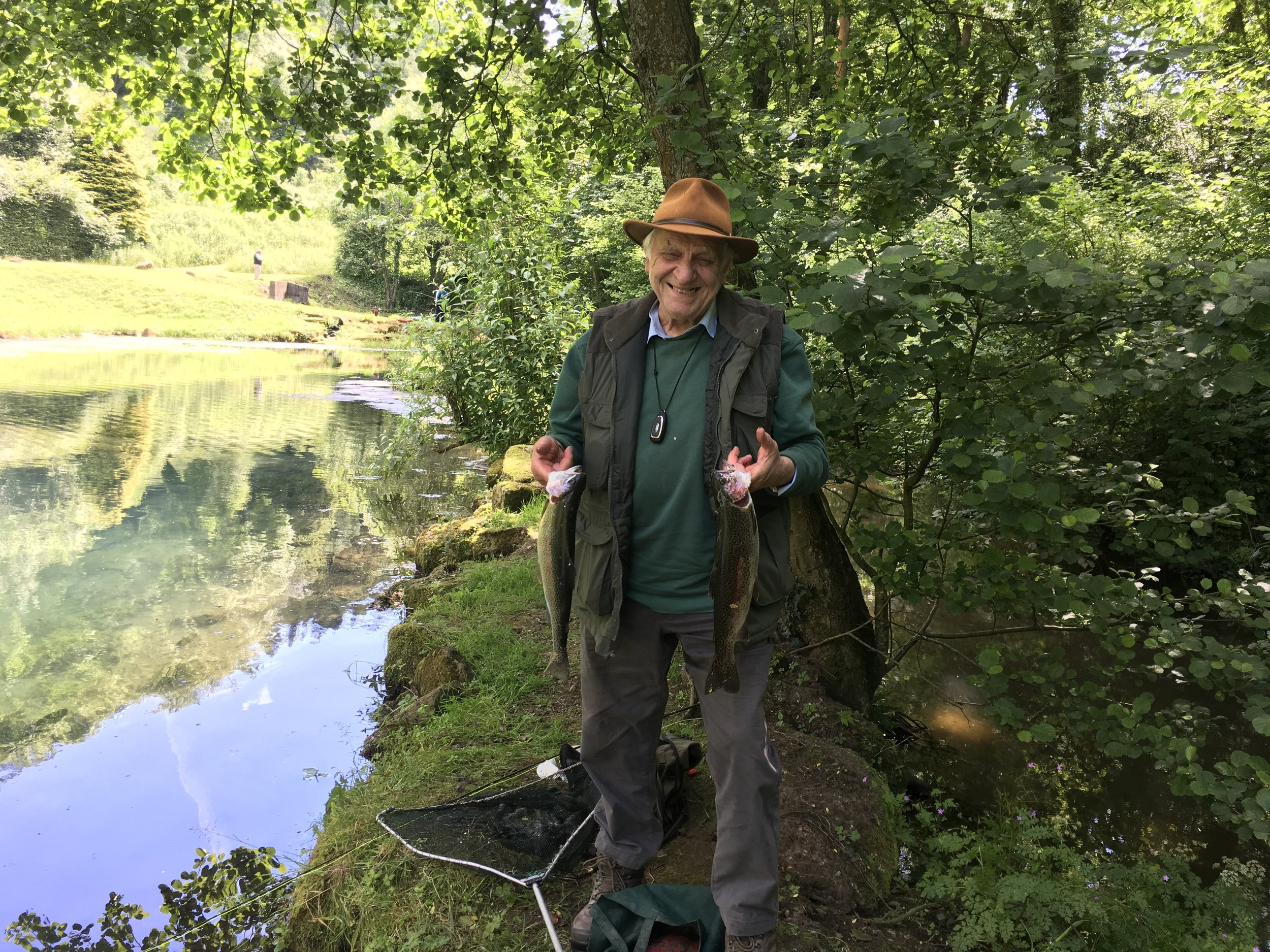 Ron Baker had a good day at Bigwell fishery.