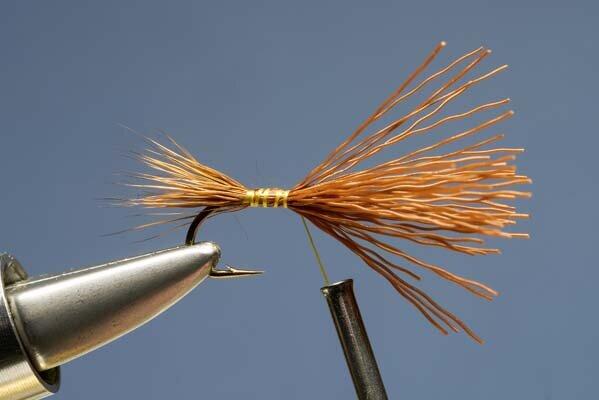 Set of 3 Fly Fishing Flies  Barbed Olive Hopper Suspender  Size 10