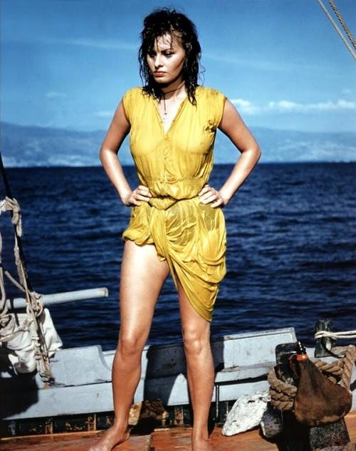 """Sophia Loren in """"Boy on a Dolphin"""""""