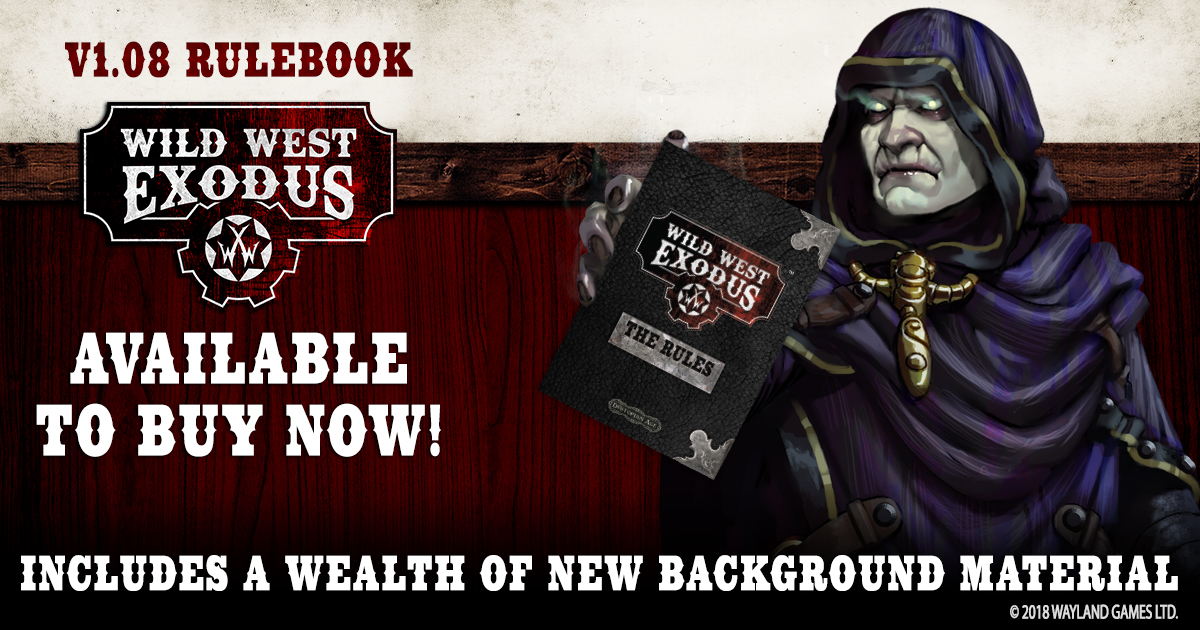 Version 1.08 Wild West Exodus Rulebook - English