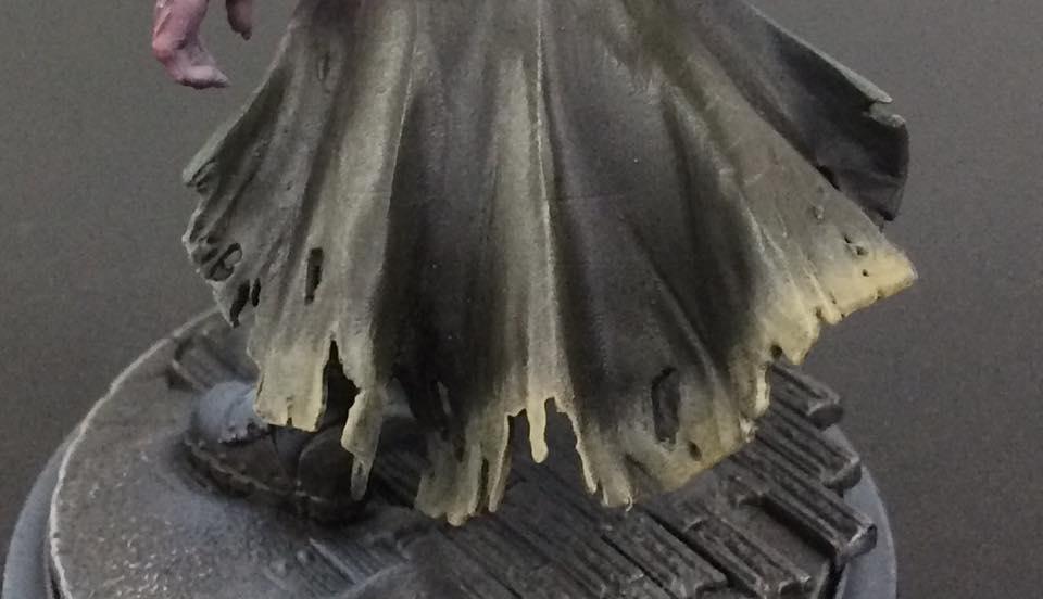 Stipple/Drybrush Rucksack Tan towards the edges of the cloth.