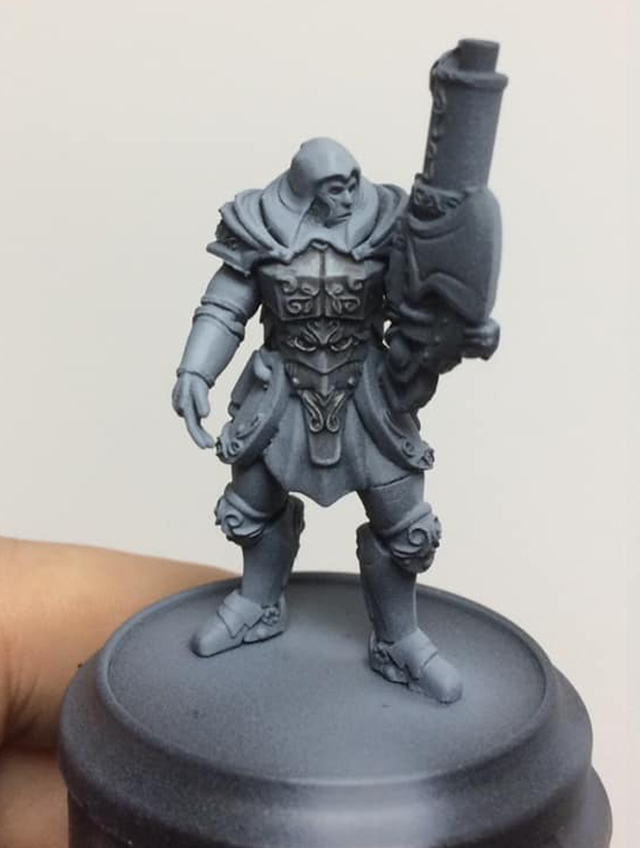 Another black wash is applied to add separation.