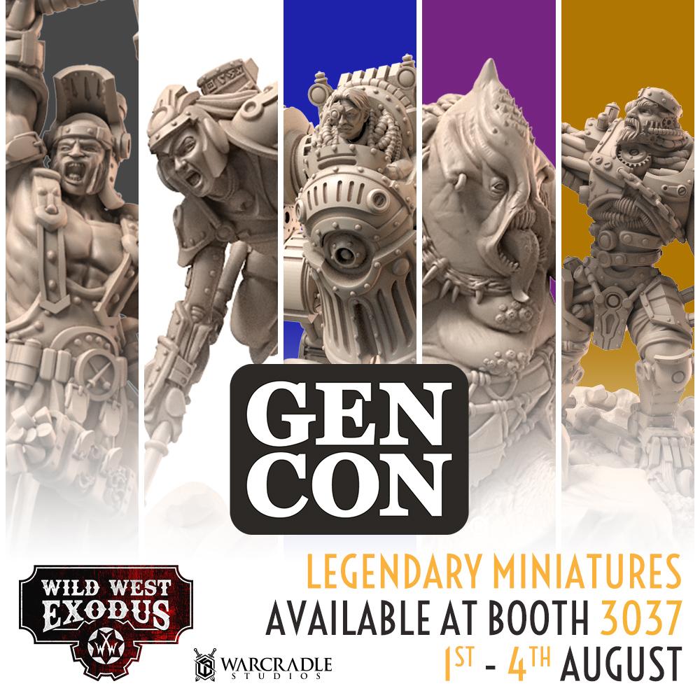 Wild West Exodus Legendary Miniatures