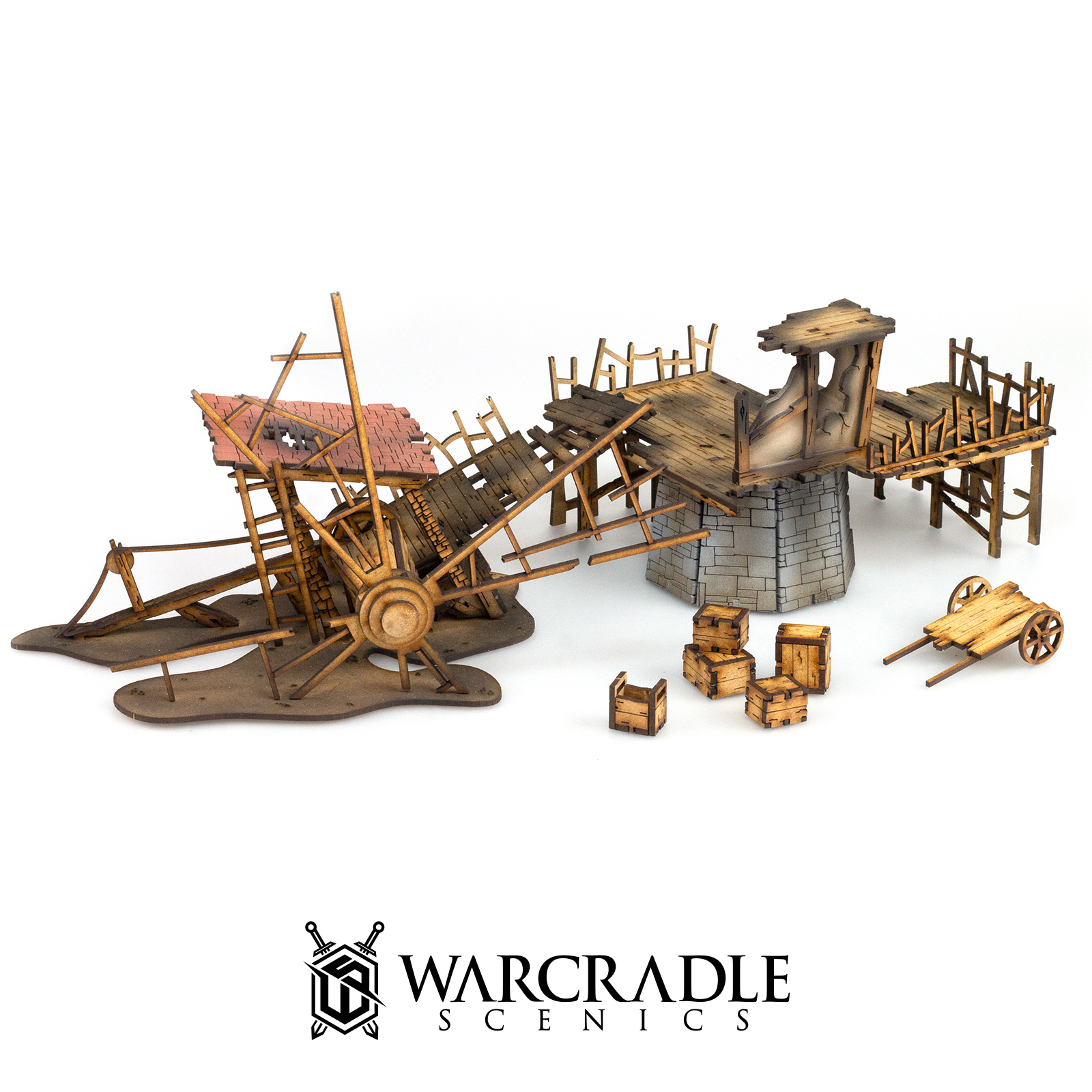 Ruined Old Mill - Tabletop Terrain