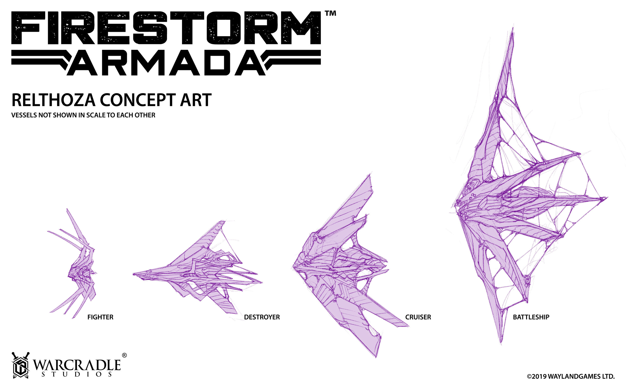 The Studio Diaries will be a great place to show of sneak peeks at future projects and designs, such as these fantastic concepts for the Relthoza for Firestorm Armada!