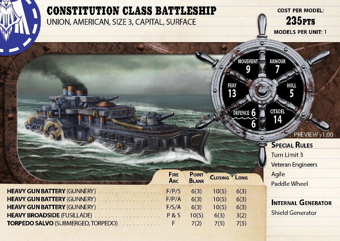 Constitution Class Battleship
