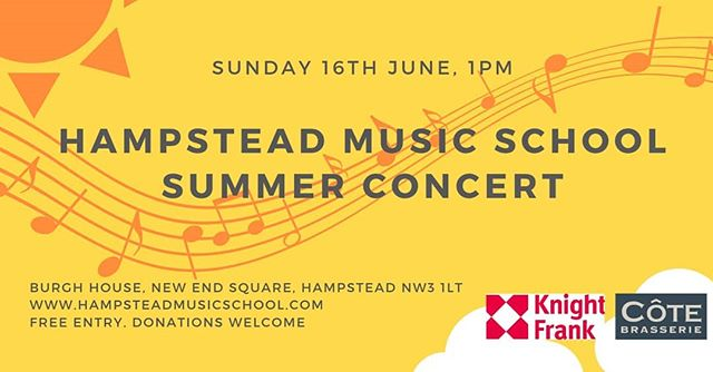 Students of Hampstead Music School will present a Summer concert to showcase their talents at Burgh House on Sunday 16th June at 1pm.  More info on our website! :) #concert #hampstead #music #summerconcert #recital #children #livemusic