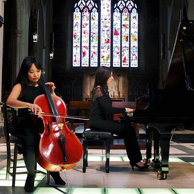 "Teachers from Hampstead Music School, Cettina & Catherine, gave a beautiful rendition of Beethoven Sonata, Songs from Brahms and Schumann Adagio & Allegro as part of their ""Sehnsucht"" project last Friday at St.James's Church in Paddington.  #music #concert #cello #piano #london #hampstead #cellist  #pianist #musicians"