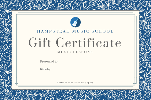 Lesson Gift Voucher | Hampstead Music School