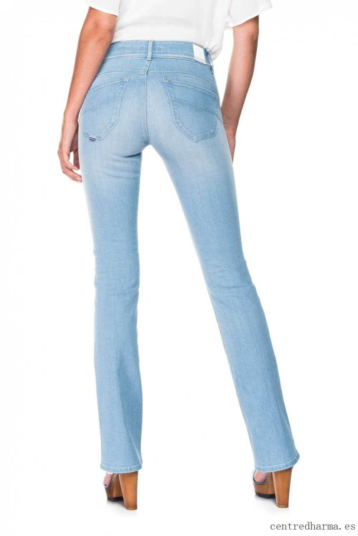 Uso duro Pantalón vaquero boot cut tiro alto con efecto Push In - Secret Azul - Mujer Vaqueros y Pantalones_02_LRG.jpg