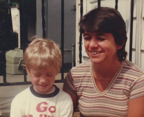 Aunt Marge & Author Michael Patrick - Late 70's