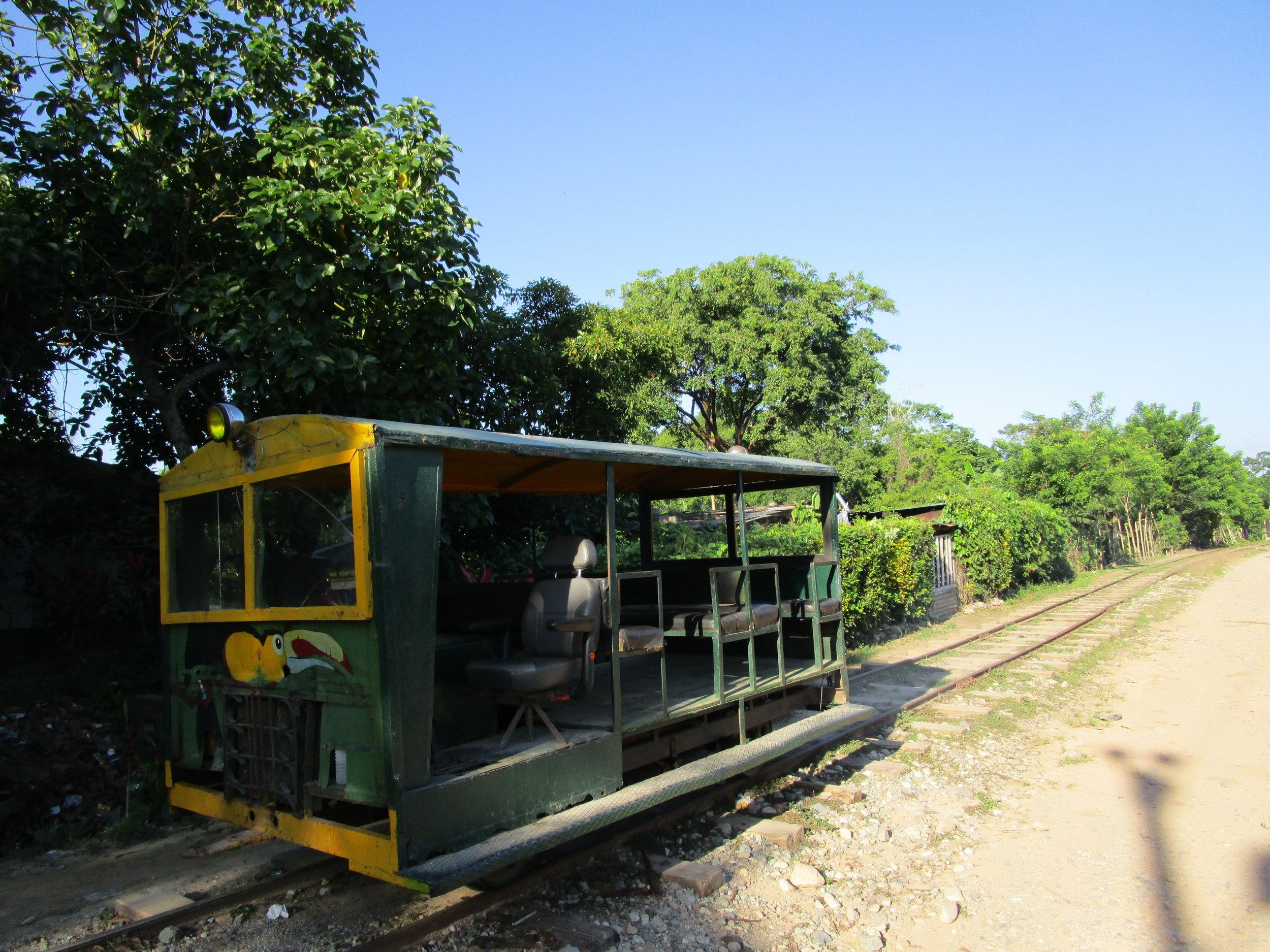 Railroad car into Cuero y Salado Wildlife Refuge
