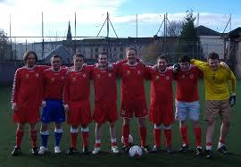 The Third Lanark Sevens team that took part in the Andrew Watson Memorial Trophy tournamnet in 2012.