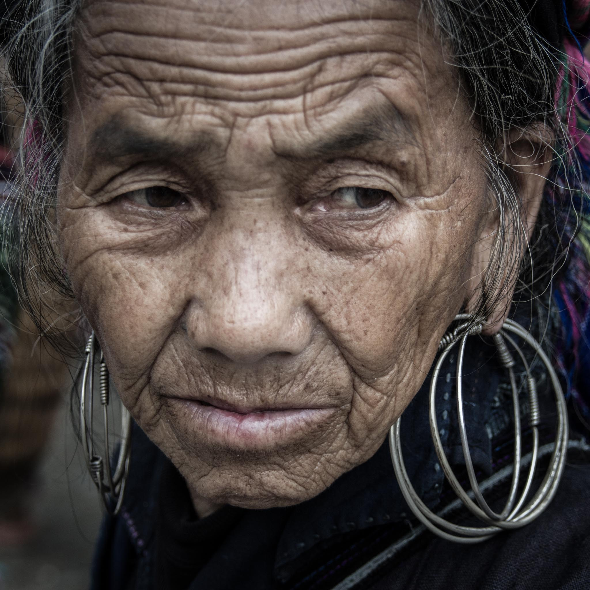 Lady with Hoops