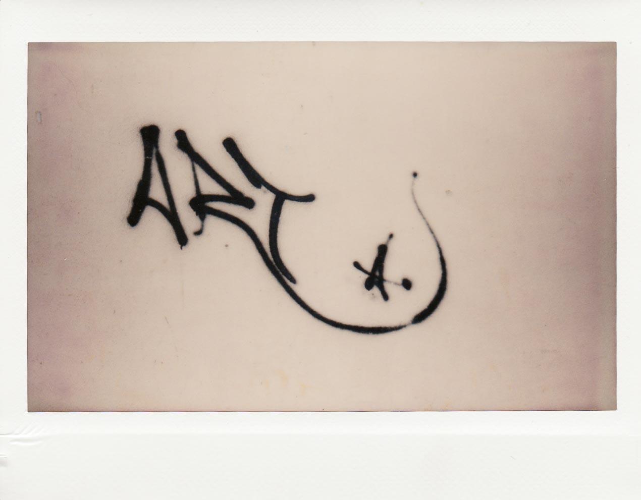 Detail of a tag on a wall ... Rovinj, Croatia
