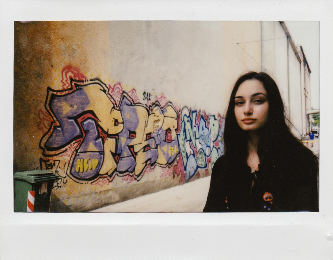 My beautiful daughter in an alleyway - no flash. Rovinj, Croatia.