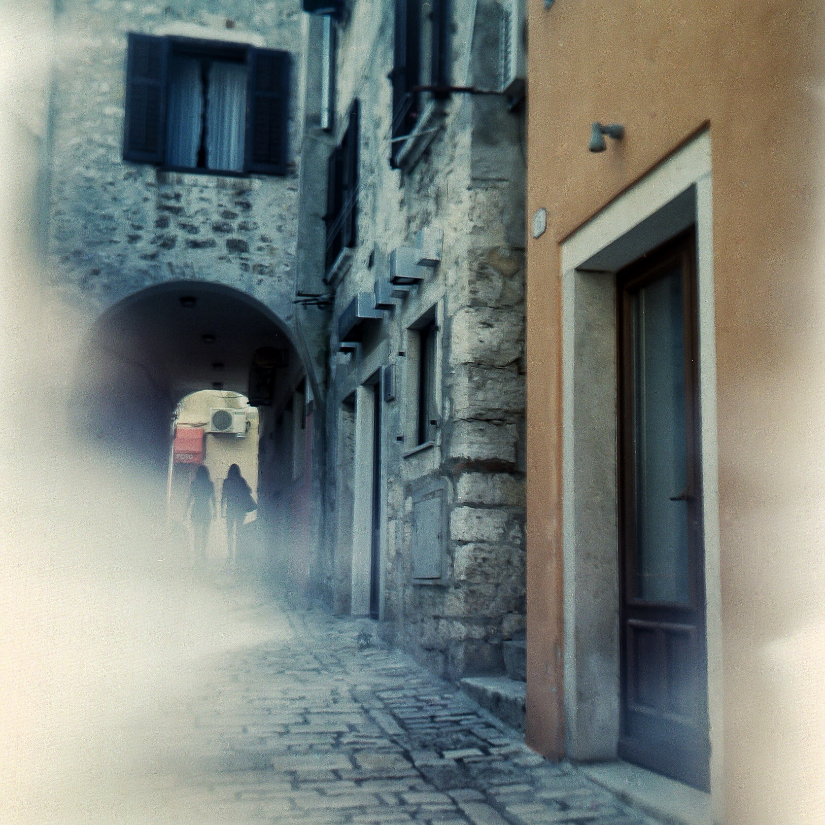 Something messed up this shot, but I still like it. Trogir, Croatia.