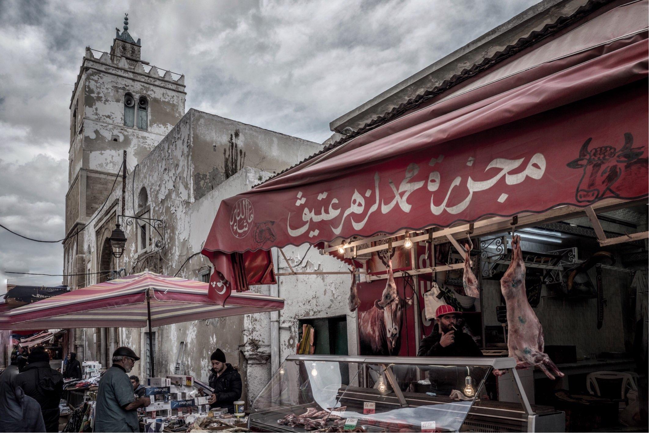 At the Meat Markets, Medina de Tunis.