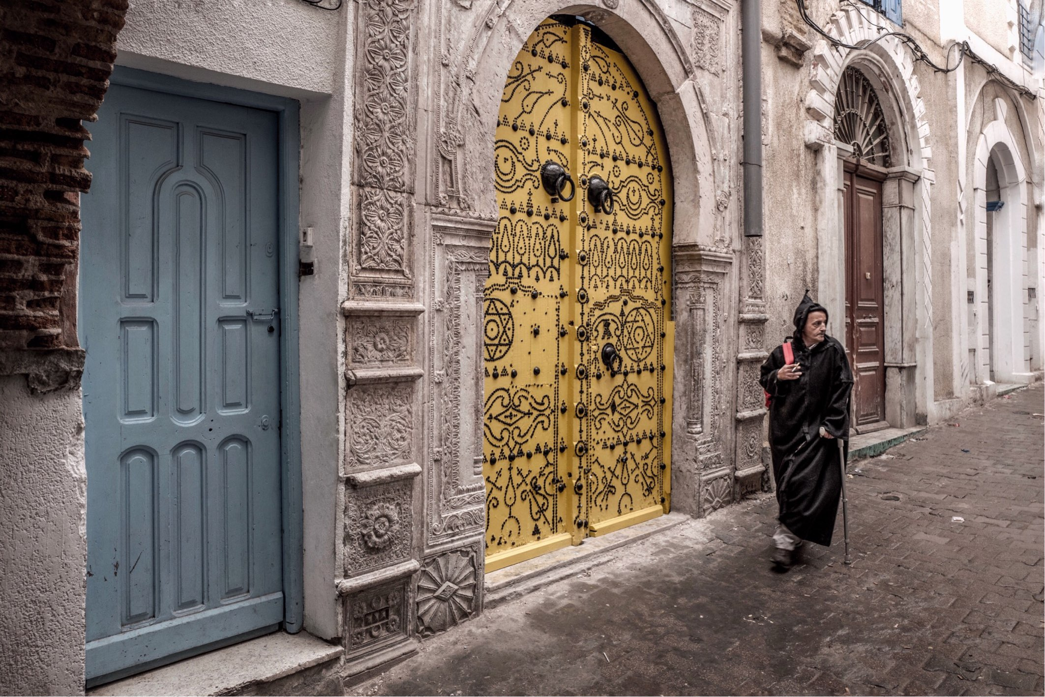 There are many of these impressive decorative doors throughout the Medina.