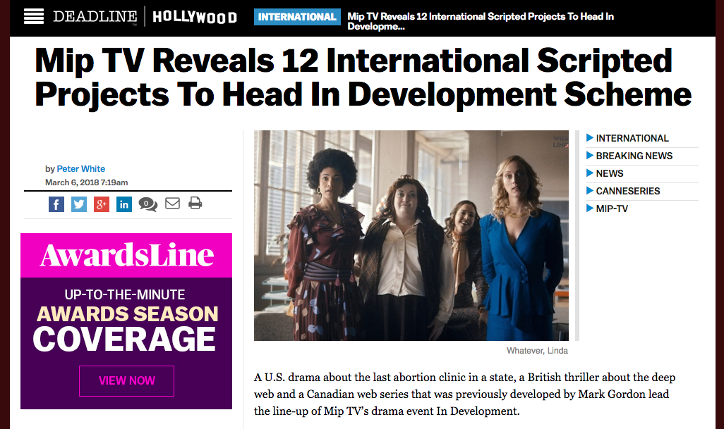 Deadline Article - http://deadline.com/2018/03/mip-tv-reveals-12-international-scripted-projects-to-head-its-in-development-scheme-1202312240/