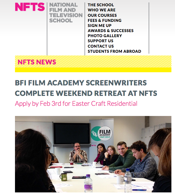 BFI Film Academy - One Year On - https://nfts.co.uk/news/bfi-film-academy-screenwriters-complete-weekend-retreat-nfts