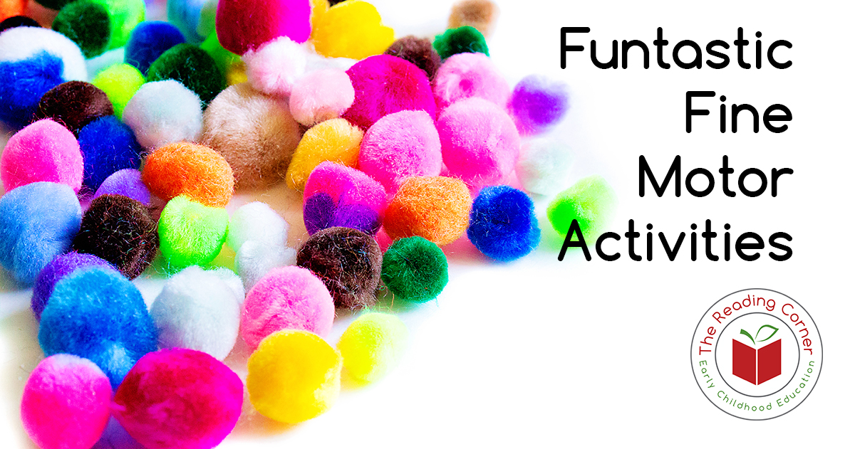 Encouraging children to sort pom pons with tweezers helps fine motor skills as well as counting and sorting.