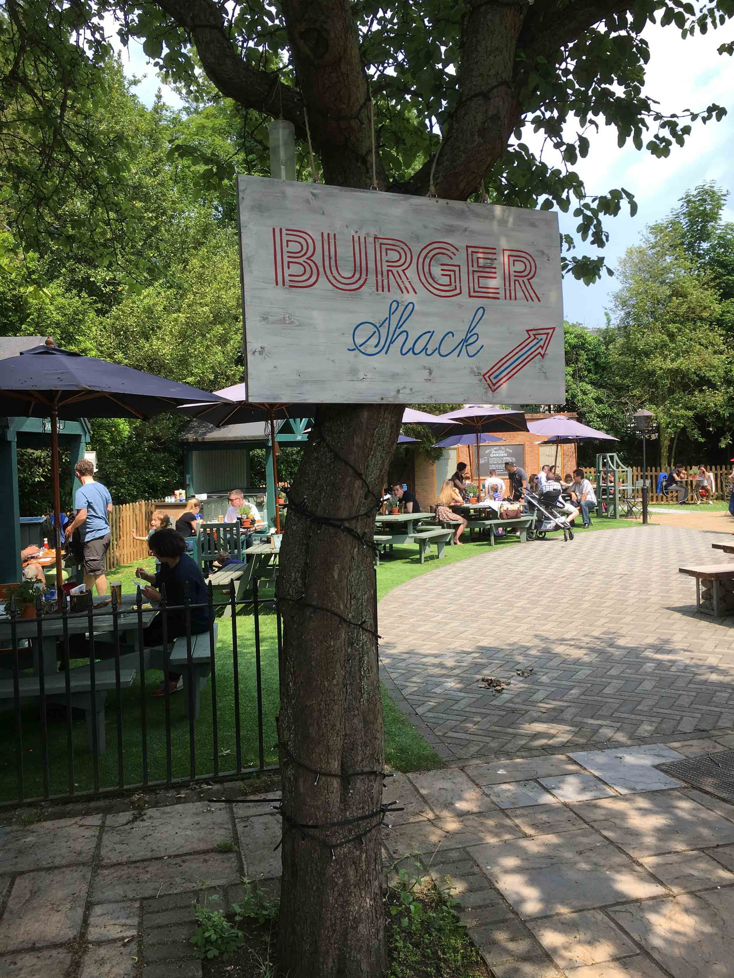 The Burger Shack at the Wood House do a great burger and the beer garden is really nice.