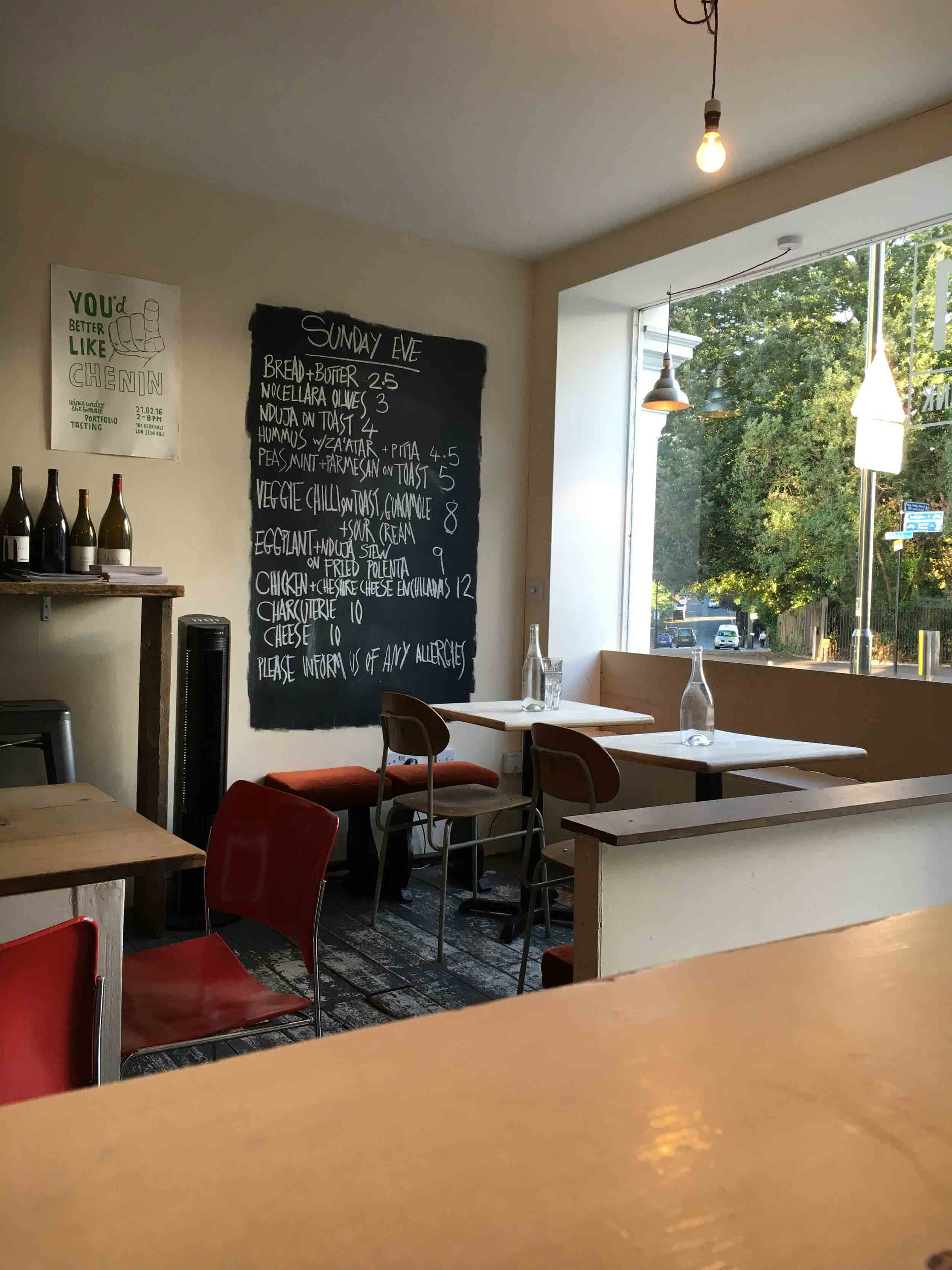 161 Kirkdale is a great little wine shop that also does breakfasts at the weekend.
