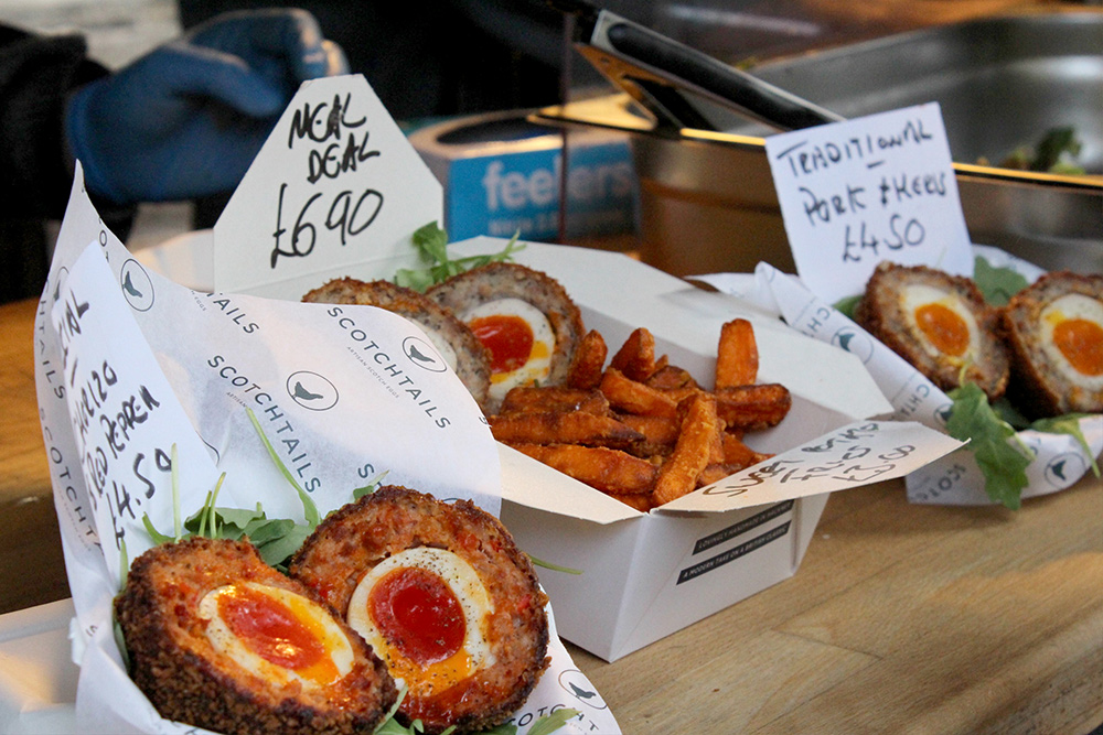 While we really love Borough Market, it's size can be overwhelming and the amount of choice on offer can make it difficult to make a decision, but who could resist these gourmet scotch eggs?