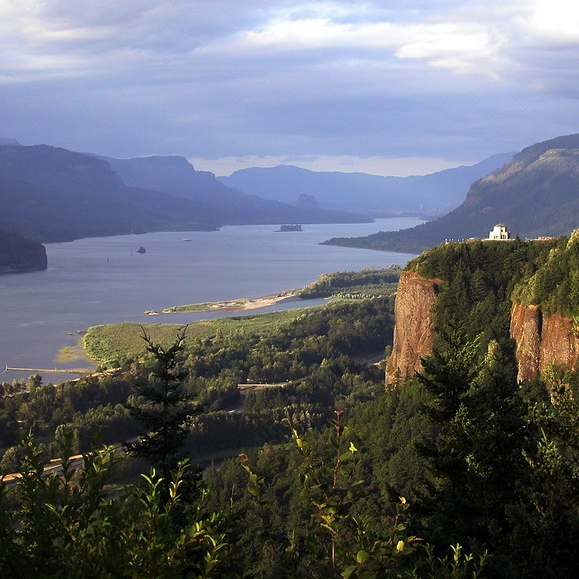 Vista House and the Columbia River Gorge in Oregon and Washington. Photo Credit:NPS