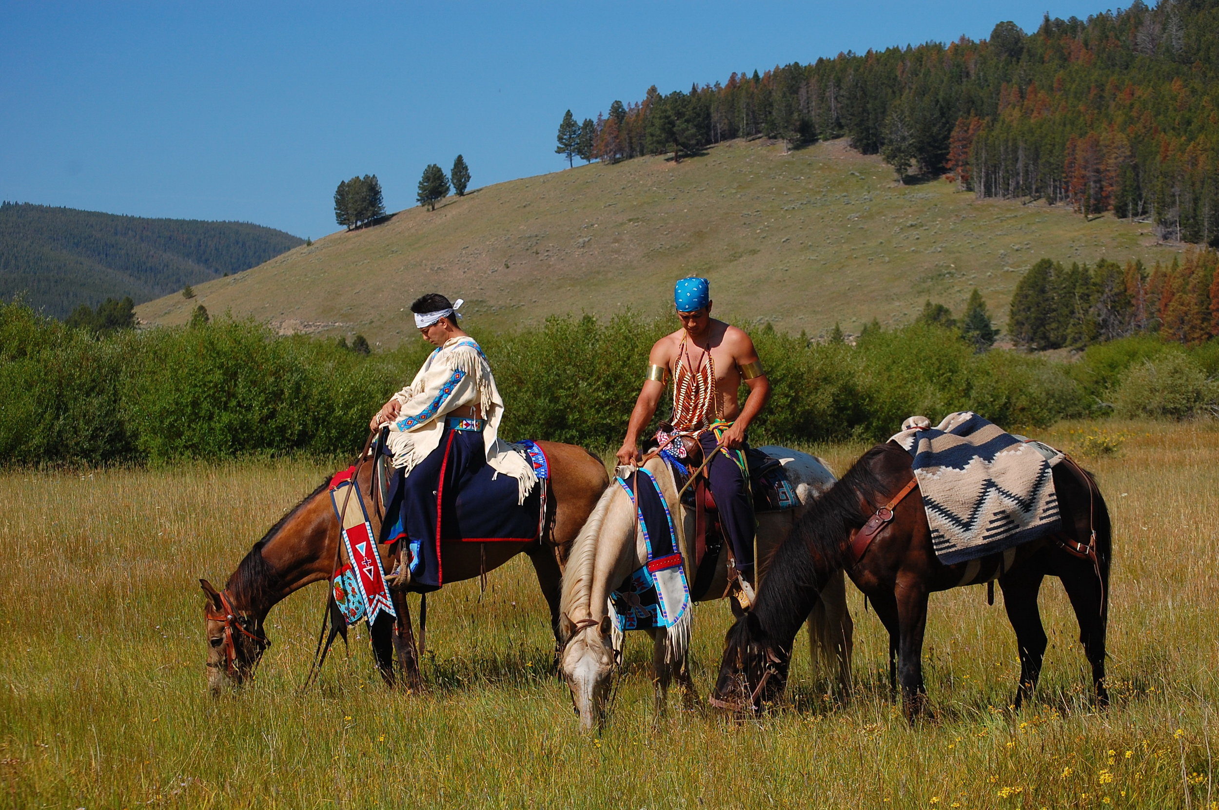 Along the Nez Perce National Historic Trail, at the Big Hole National Battlefield near Wisdom, MT. Battle commemoration August 2010. US Forest Service photo, by Roger Peterson