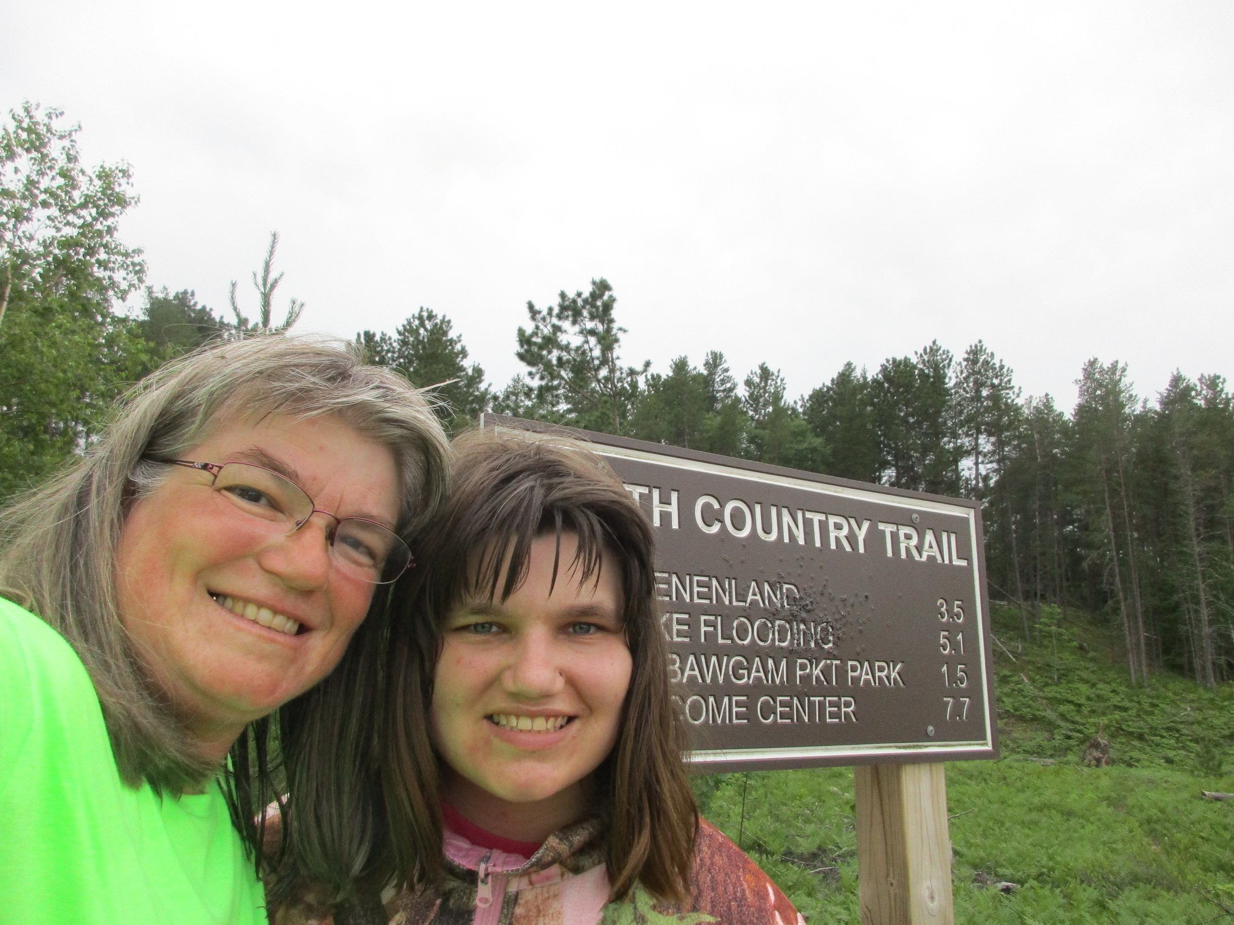 Laurie and Andrea Kass finish their Hike 100 Challenge in 2017