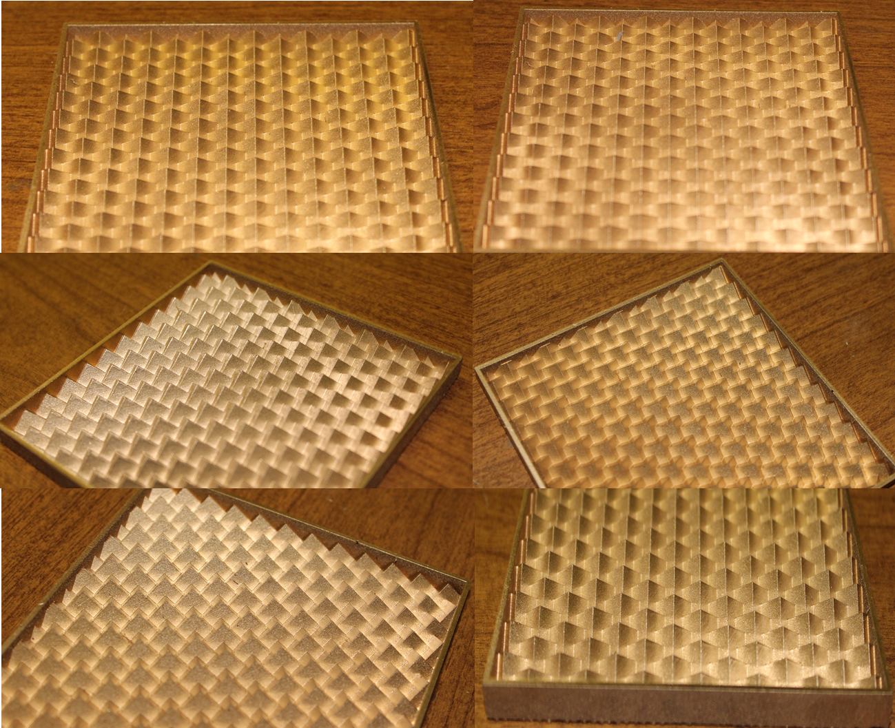 Figure 1. Prototype tile created using an equilateral triangle truncation object having a 30° truncation rotation