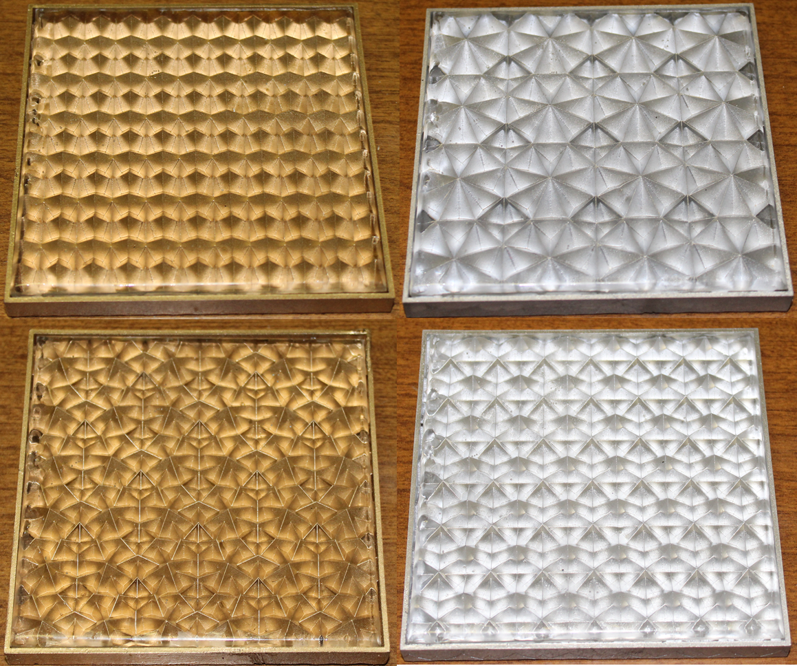 Figure 10. Prototype tiles five through eight with an added clear acrylic layer.