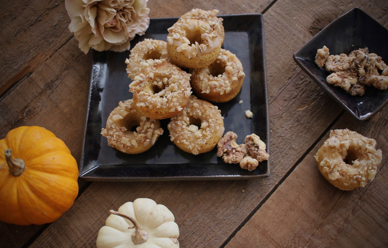 Baked Pumpkin Doughnuts with Maple Walnuts 6 | LindenandLavender.jpg