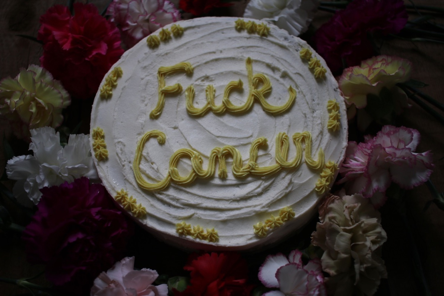 Fuck Cancer Cake | Linden and Lavender