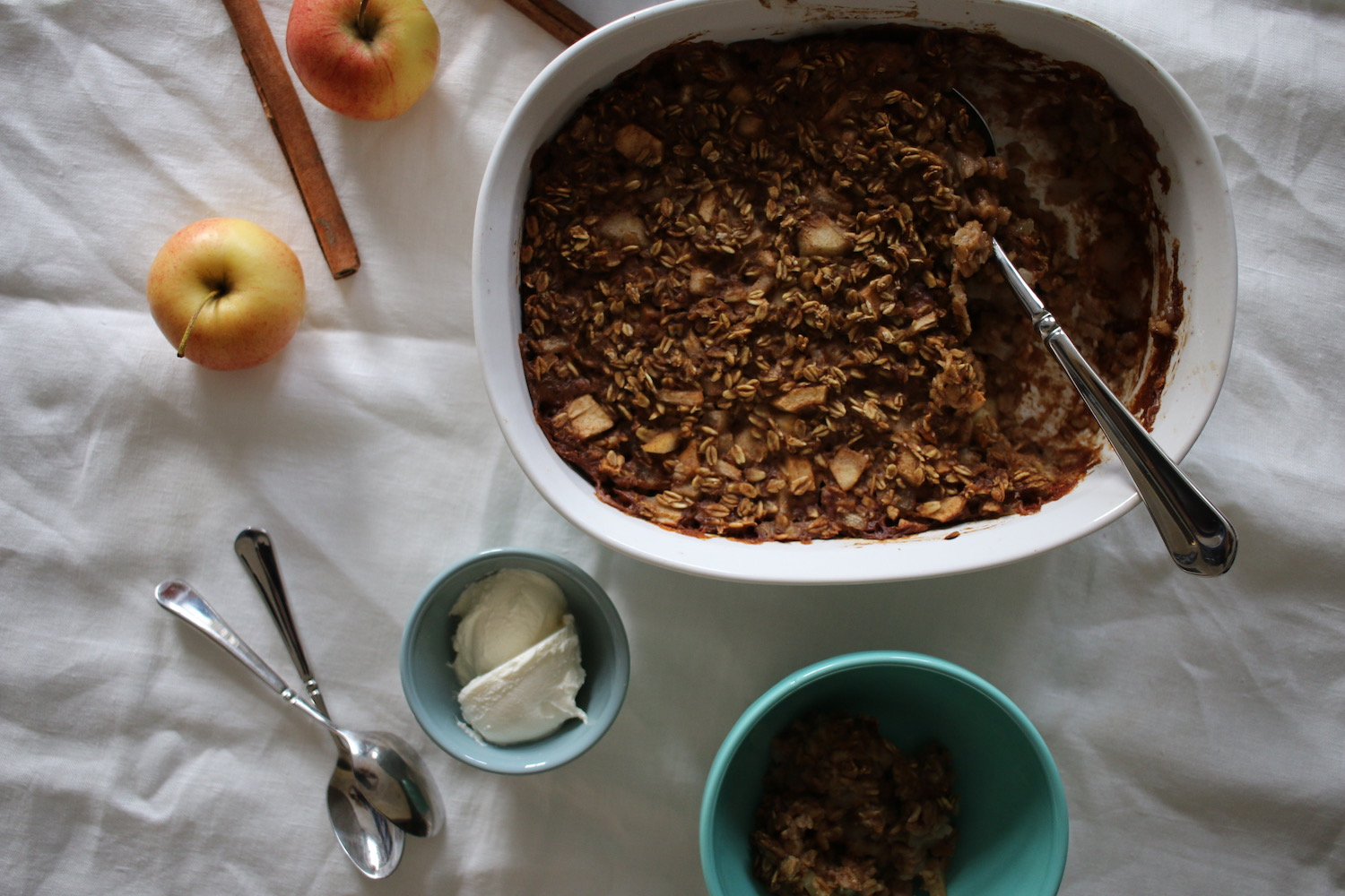 Apple & Pear Baked Oatmeal 3 | Linden & Lavender