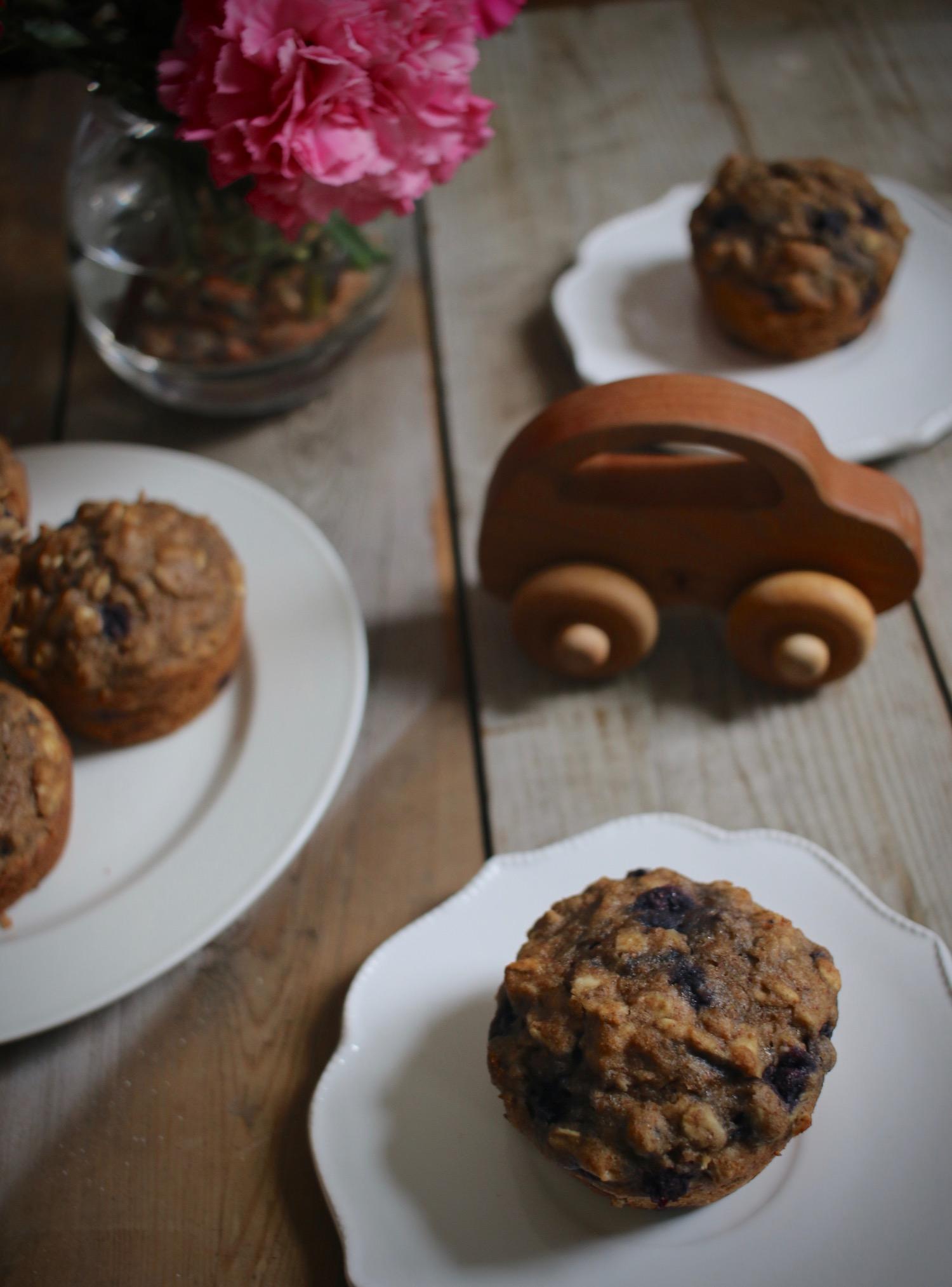 Whole Grain Blueberry Muffins | Linden & Lavender