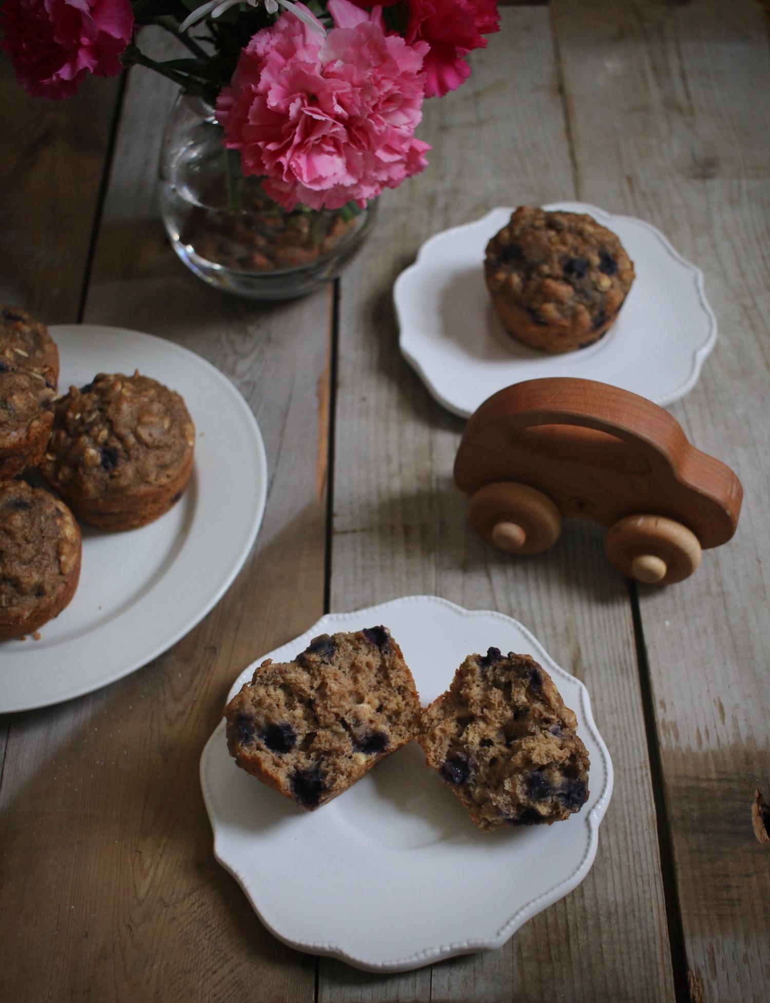 Whole Grain Blueberry Muffins 2 | Linden & Lavender