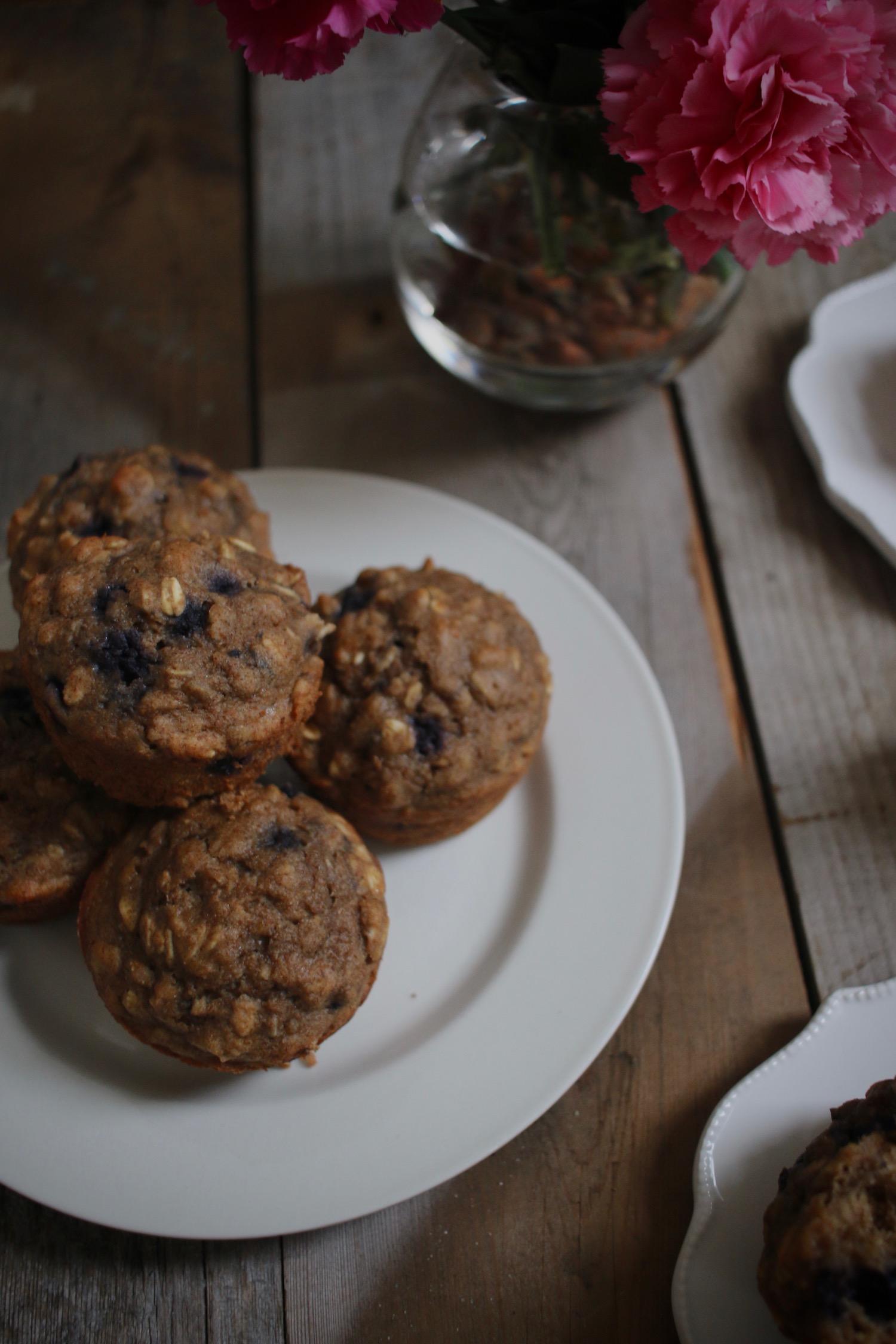 Whole Grain Blueberry Muffins 4 | Linden & Lavender